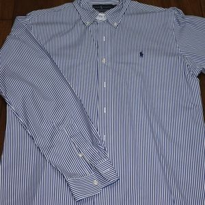 Men's navy striped Ralph Lauren shirt
